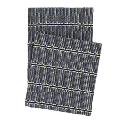 Archer Navy Woven Cotton Throw <font color=a8bb35> NEW</font>