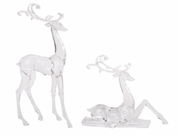 Arctic Glow Deer Figurines Set of 2 *Out of Stock