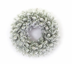 Arctic Glow Flocked Candle Ring Set of 2