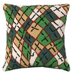 Argyle Christmas Pillow <font color=a8bb35> NEW</font>