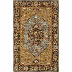 Artemis Rust Abstract Hand Tufted Rug <font color=a8bb35> NEW</font>