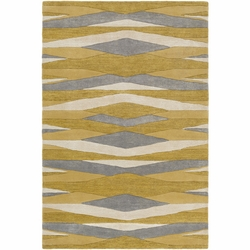 Artist Studio Yellow/Grey  Hand Tufted Rug <font color=a8bb35> NEW</font>