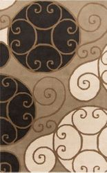Athena Khaki Black Hand Tufted Rug <font color=a8bb35> NEW</font>