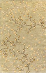 Athena Olive Tan Hand Tufted Rug <font color=a8bb35> NEW</font>