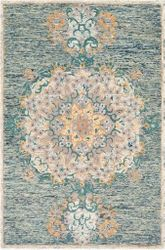 Avon Sage Hand Tufted Rug <font color=a8bb35> NEW</font>
