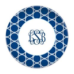 Bamboo Rings Navy Plates - Set of Four