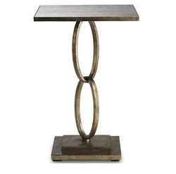 Bangle Table - Silver Leaf