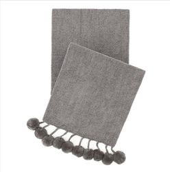 Bauble Chenille Grey Throw *New