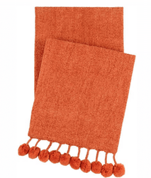 Bauble Chenille Spice Throw <font color=a8bb35> NEW</font>