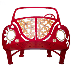 Beetle Car Metal Garden Bench *NEW*