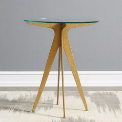 Bentley Side Table in Champagne Bronze