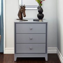 Bergamo 3-Drawer Side Table in 2 Colors