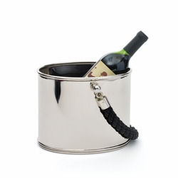 Black Rope Handle Ice Bucket