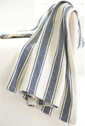 Blue Awning Stripe Throw<font color=cf2317> 20% Off</font>