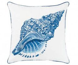 Blue Conch Shell Outdoor Pillow *NEW*