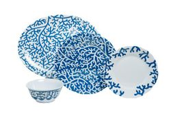 Blue Coral Melamine Dinner Set with Platter