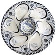Blue Crab Oyster Plate Set of Two