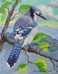 Blue Jay Beach Print *NEW