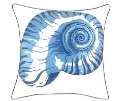 Blue Nautilus Shell Outdoor Pillow *NEW*