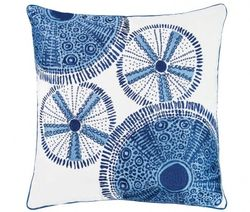 Blue Sea Urchin Pattern Outdoor Pillow  *NEW*