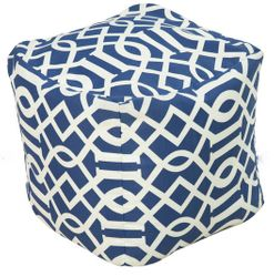 Blue Storm Indoor/Outdoor Pouf