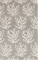Boardwalk Light Gray & Ivory Coral Flat Pile Rug<font color=a8bb35> Limited Sizes</font>