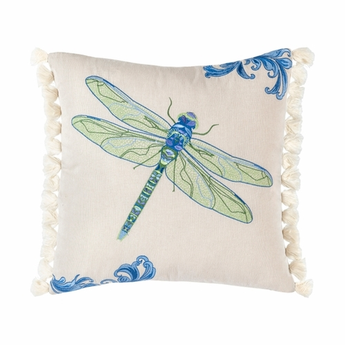 Boho Fringed Indoor Dragonfly Pillow