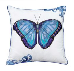 Bold Blue Butterfly Indoor/Outdoor Pillow