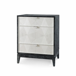 Borneo 3-Drawer Side Table in Black