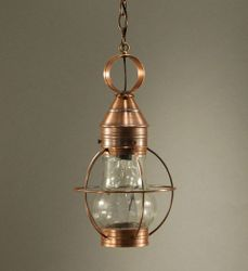 Bosc Caged Hanging Light Fixture with Optic Glass