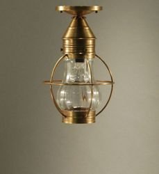 Bosc Flush Mount Light Fixture with Clear Optic Glass