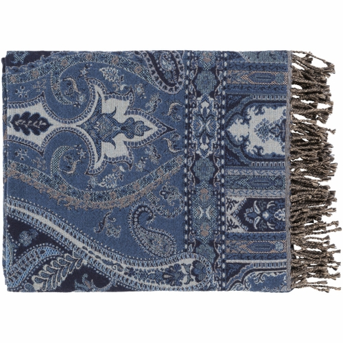 Boteh Blue Throw *Sold out