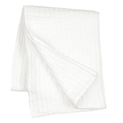 Boyfriend White Matelasse' Throw <font color=a8bb35> NEW</font>