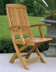 Braxton Teak Folding Arm Chair