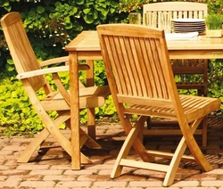 Braxton Teak Folding Side Chair