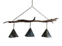 Brays Island Driftwood Three Light Chandelier