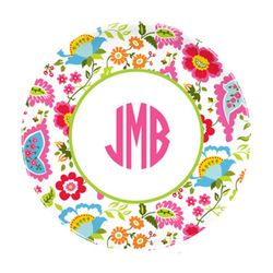 Bright Floral Plates - Set of Four