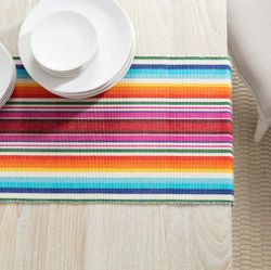 Brighton Stripe Table Runner With Napkin Option