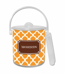 Bristol Tile Tangerine Ice Bucket