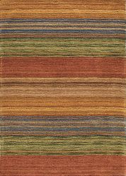 Brushstroke Red Rug