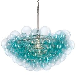 Bubbles Aqua Chandelier <font color=a8bb35>NEW</font>