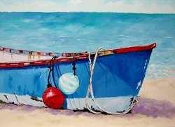 Buoys and Boat Giclee