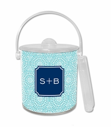 Bursts Teal Ice Bucket