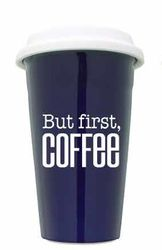 But Coffee First Cobalt Ceramic Tumbler - Set 2