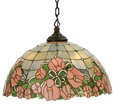 Cabbage Rose Pendant Swag Light <font color=a8bb25> Sold Out</font>