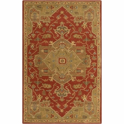 Caesar Burgundy Gold Hand Tufted Rug <font color=a8bb35>NEW</font>