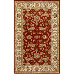 Caesar Maroon Hand Tufted Rug <font color=a8bb35> NEW</font>