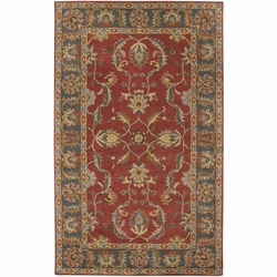 Caesar Rust Hand Tufted Rug <font color=a8bb35> NEW</font>