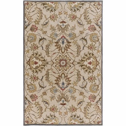 Caesar Tan Hand Tufted Rug