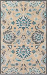 Caesar Teal Hand Tufted Rug  <font color=a8bb35> NEW</font>